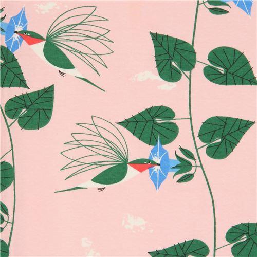 hummingbird organic knit fabric by Birch