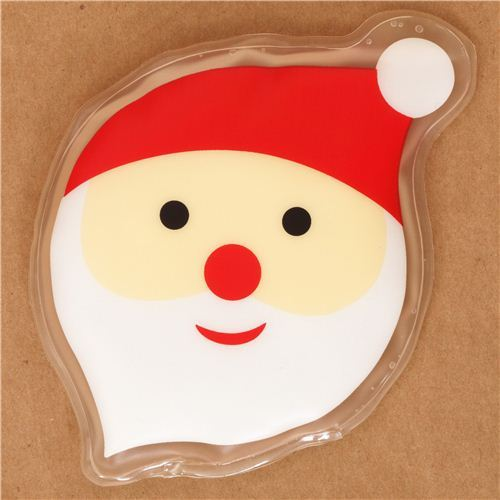 Santa Claus face pocket warmer hot pad from Japan