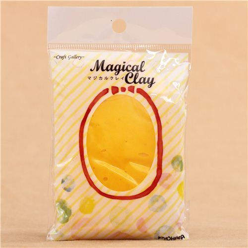 yellow paper clay Magical Clay from Japan