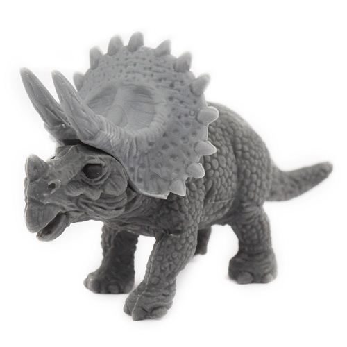 grey Triceratops eraser by Iwako from Japan