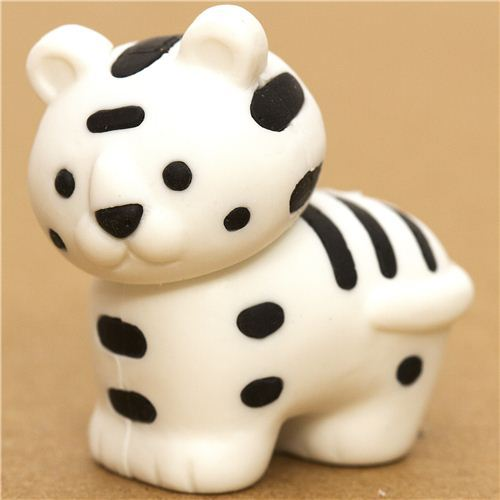 white tiger eraser by Iwako from Japan