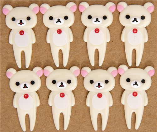 Rilakkuma white bear food picks for Bento Box Lunch Box