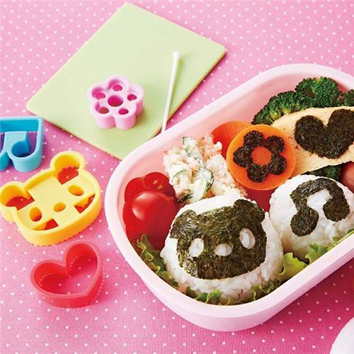bear flower music note heart seaweed Bento food cutters