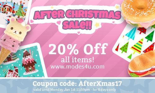 After Christmas Sale! Get 20% off ALL items!!
