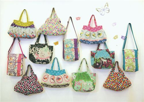pretty handbags with Echino Fabrics - which one is your favourite?