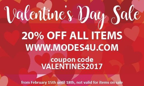 Check out our Valentine's Day sale on modes4u!