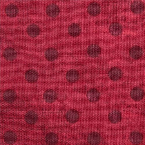 red fabric polka dot Gorjuss Quilting Treasures