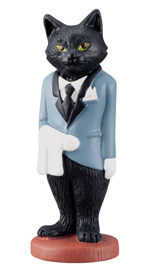 black cat waiter figurine from Japan