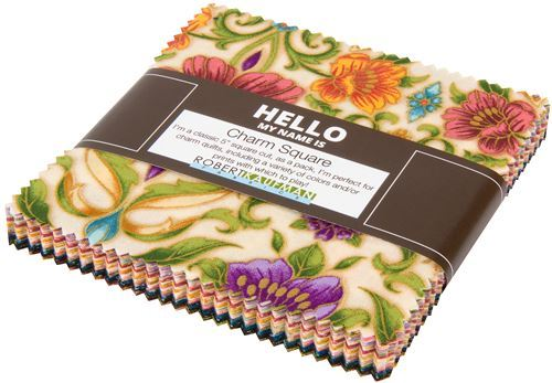 Charm Pack fabric bundle pattern flower Garden Colorstory Robert Kaufman