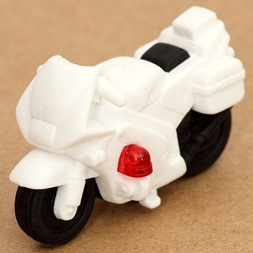 white police motorbike eraser from Japan by Iwako