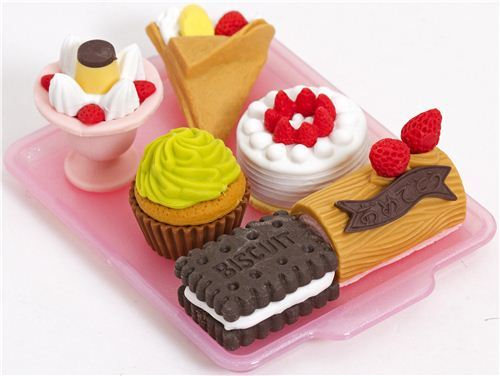 Iwako erasers cake ice cream 6 pieces set