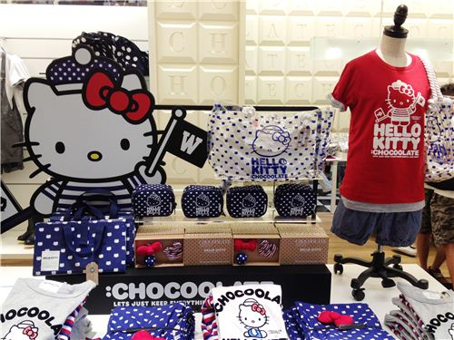 Hello Sailor Kitty collection in the Chocoolate stores in Hong Kong