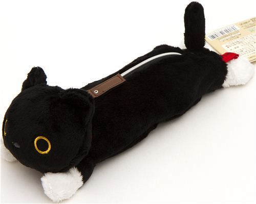 fluffy Kutusita Nyanko pencil case with cat