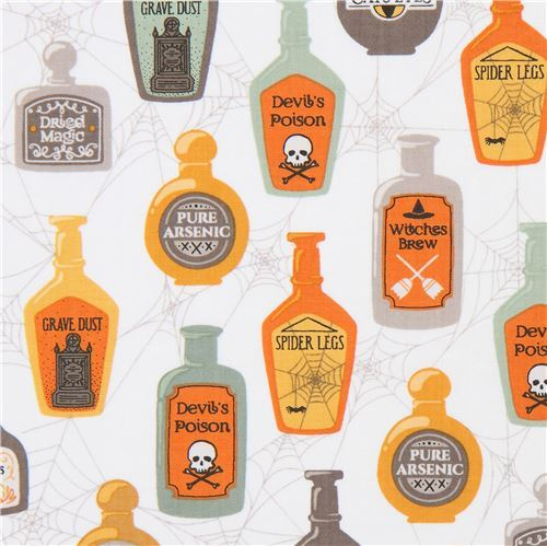 Ink & Arrow Halloween fabric with potions