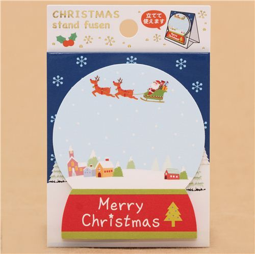 die-cut snow globe Christmas Note Pad from Japan