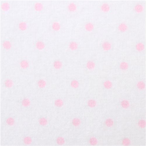 small pink dot Robert Kaufman white flannel fabric Cozy Cotton