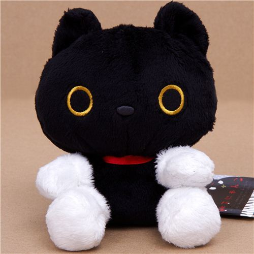 kawaii Kutusita Nyanko black cat plush toy