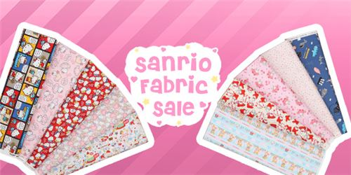 Get great Sanrio fabrics on sale now!