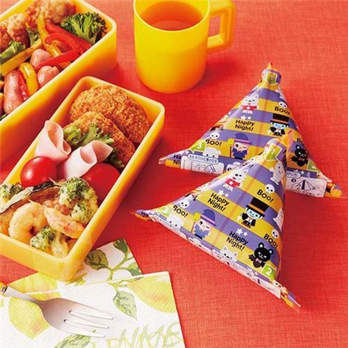 Halloween bento box Onigiri food wrapping papers
