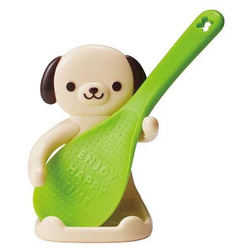 bento rice paddle spoon with dog shaped holder by Torune