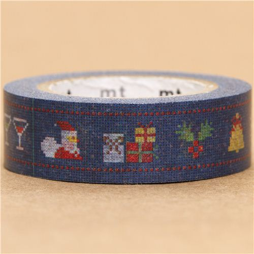 blue Christmas embroidery mt Washi deco tape