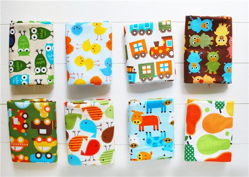 The bundle contains 8 fat quarters with Anns wonderful designs