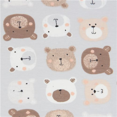Stof Fabrics grey bear knit fabric