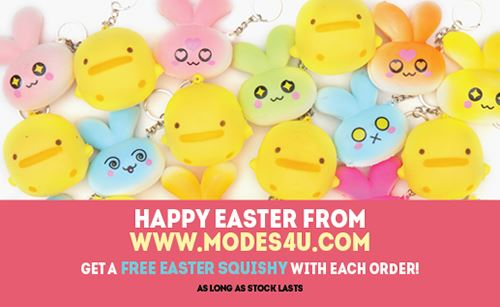 Hurry! Get a free Easter themed squishy from modes4!