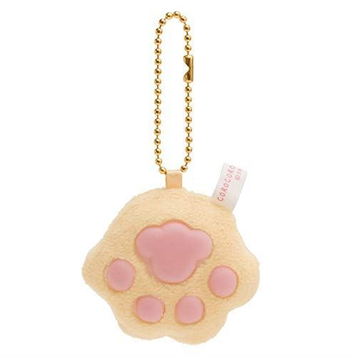 orange San-X Corocorocoronya cat paw plush toy squishy