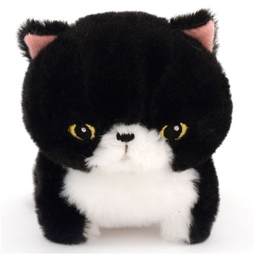 cute black cat plush toy Chinmari Munchkin from Japan
