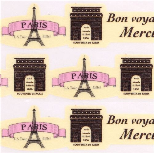 yellow die-cut Paris Eiffel Tower Masking Tape deco tape Japan