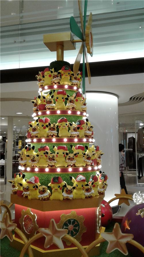 It's a Pikachu Christmas tree!