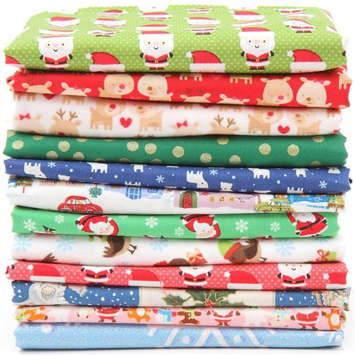 Look at all these gorgeous Christmas fabrics!