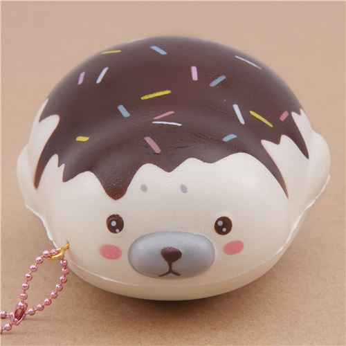 cute cream chocolate sauce mochi seal animal scented squishy by Puni Maru