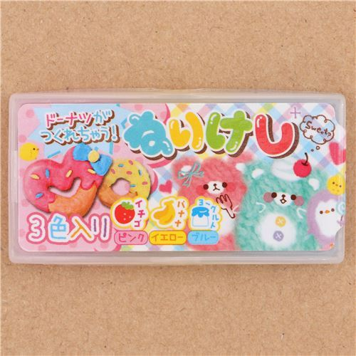 cute scented clay donut eraser from Japan