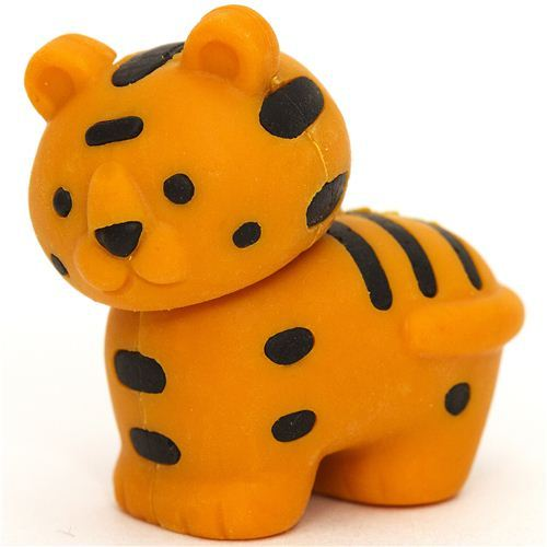 orange tiger eraser by Iwako from Japan
