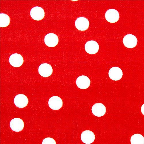 Robert Kaufman premium laminate fabric with polka dots
