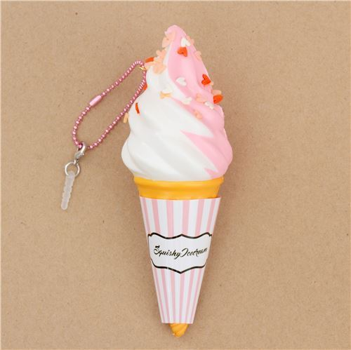 pink white ice cream sprinkles Classic Ice Cream scented squishy by Puni Maru