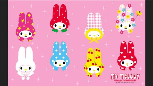 Colorful My Melody designs!