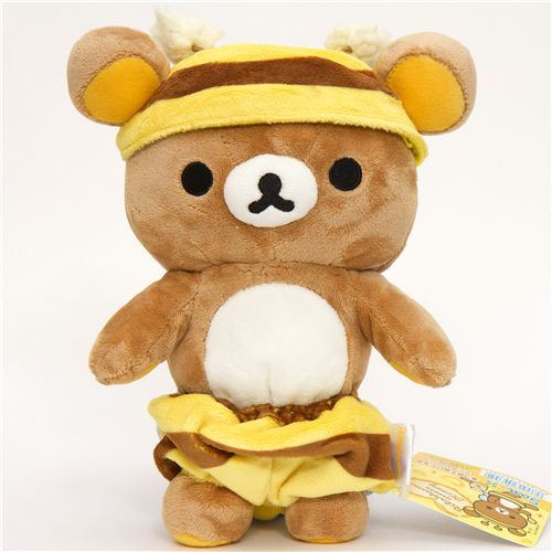 Rilakkuma plush toy brown bear as honey bee