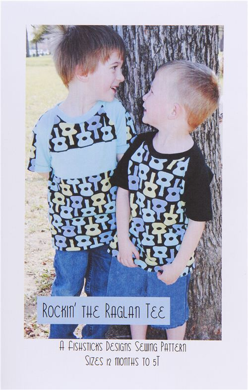 sewing pattern for children's shirt with Raglan sleeves