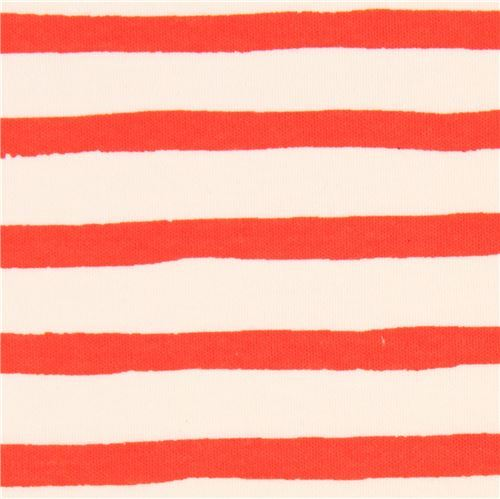 light cream orange stripe knit organic fabric USA