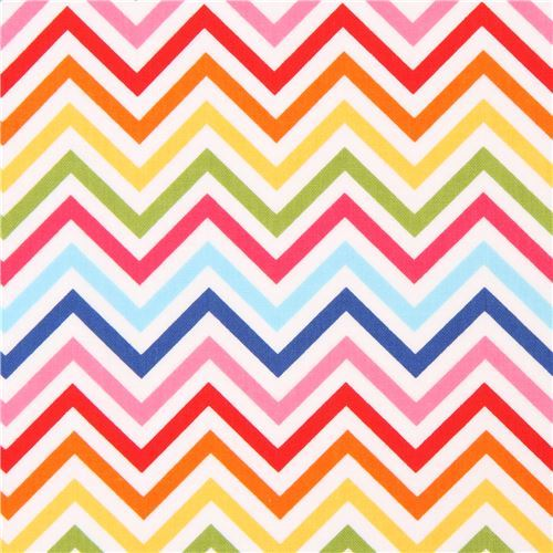Robert Kaufman thin zig zag chevron fabric hot pink dark blue Remix