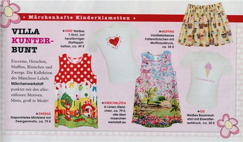 Our fabrics in German InStyle magazine