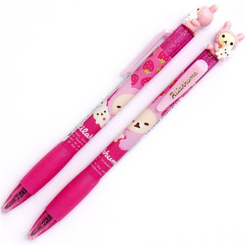 pink Rilakkuma as bunny ballpoint with  figure
