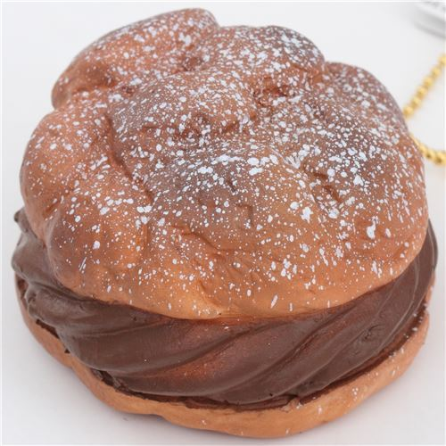 cute big brown cream puff squishy charm kawaii