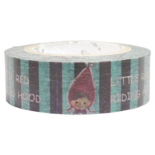 black blue stripe red riding hood Washi Masking Tape deco tape Shinzi Katoh
