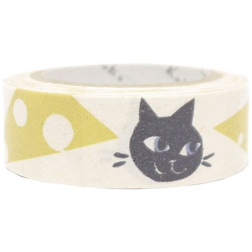 white cat mouse cheese Banana Paper Washi Masking Tape deco tape