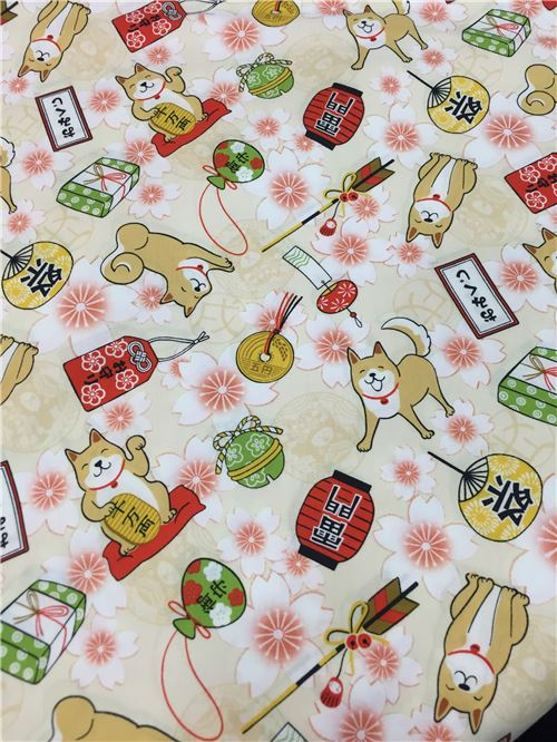 A shiba inu design from Trans-Pacific Textiles
