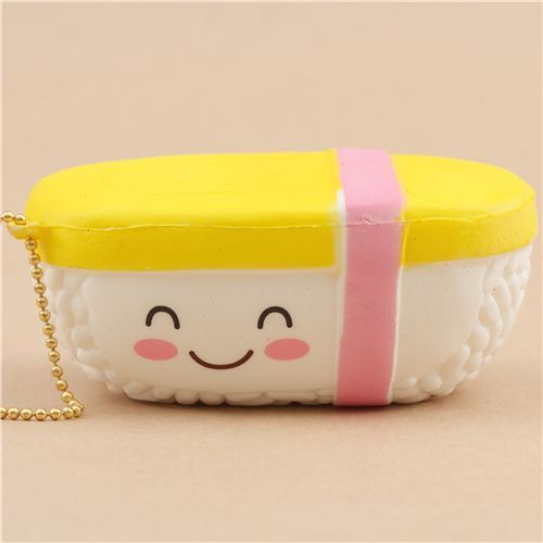 scented yellow and white sushi food squishy